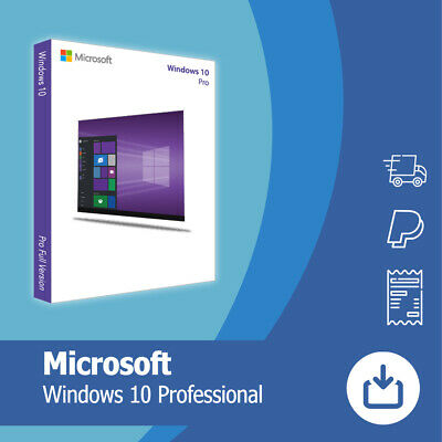 Microsoft Windows 10 Pro vom Microsoft Partner, 1PC Original 64/32-Bit OEM.