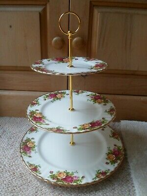 Royal Albert - Old Country Roses - Lovely & Affordable Triple Tier Cake Stand