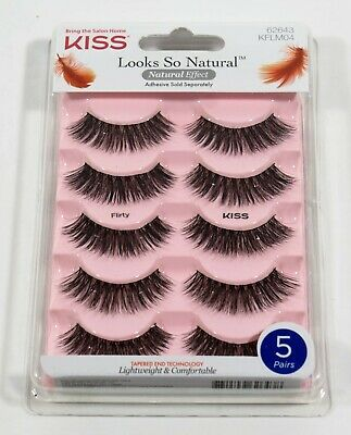ee610795e73 KISS Looks So Natural FLIRTY tapered end = 5 pair / 10 eyelashes #62643