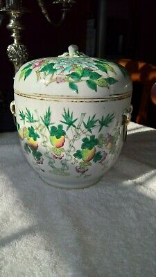 Antique Chinese Qing Dynasty Covered Porcelain Jar