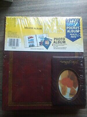 Mbi Photo Album 3 Ring 100 Magnetic Pages Holds 500 Pics Bonus Mini Pocket Album