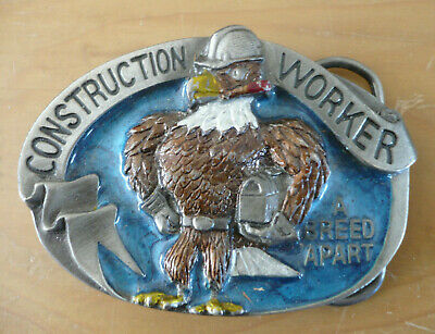 Belt Buckle - Construction Worker - USA 1988 - The Great American Buckle Co