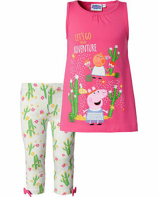 Peppa Pig top e leggings capri  per bambina