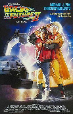 """Back to the Future Part II Movie Silk Fabric POSTER 24""""x36"""" Sci-fi"""