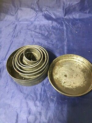 Vintage Antique Old Tin Of Cake Biscuit Cookie  Cutters