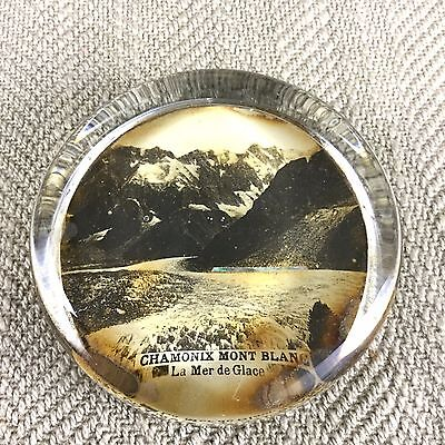 Antique Paperweight French Glass Chamonix Mont Blanc France