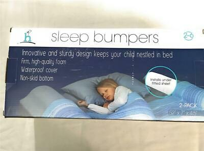 Hiccapop Sleep Bumpers With Waterproof Covers, For Ages 2-6 Years Old, 2 Pack