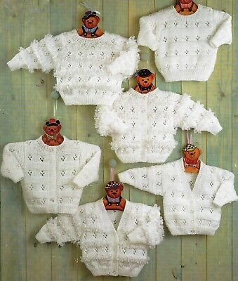 Knitting Pattern Lovely BABY GIRLS BOYS CARDIGANS SWEATER DK 12-22in 31-56cm