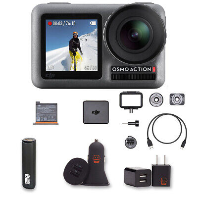 DJI Osmo Action Camera with 2 displays 11m Waterproof 4K HDR-Video 12MP Bundle
