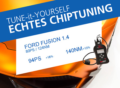 ECHTES ChipTuning für FORD FUSION 1.4 (Serie: 80PS)