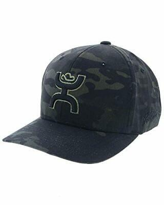 7136d87cbd1c9 HOOEY HAT CHRIS Kyle Black Camo Flexfit Ball Cap CK016 -  36.99 ...
