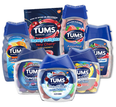 TUMS Antacids Variety - Extra and Ultra Strength chewable tablets