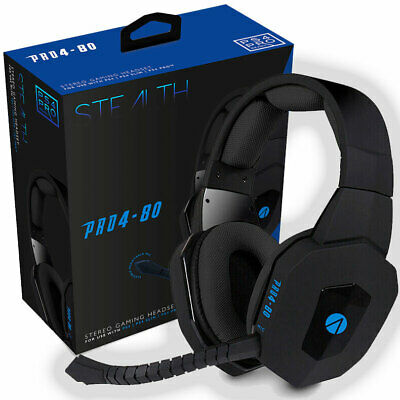 PS4 Premium Gaming Chat Headset with Mic BLACK PRO4-80 SONY PLAYSTATION/SLIM/PRO