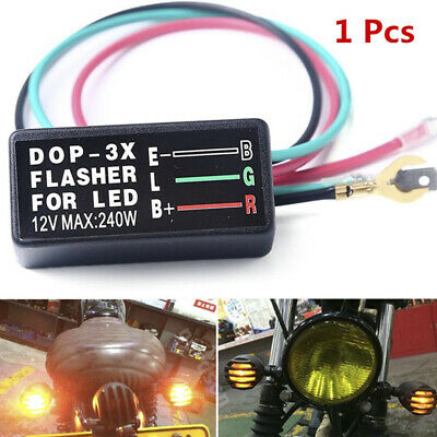 3Pin 12V Universal Motorcycle LED Turn Signal Light Flasher Relay Blinker Safety