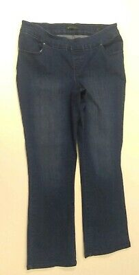 4acf8c2e Lee Platinum Label Women's Jeans Midrise Fit Barely BootCut PullOn Sz16 M