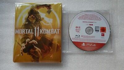 Mortal Kombat 11 PS4 PROMO Game + Mortal Kombat 11 Steelbook PS4 Promotional.