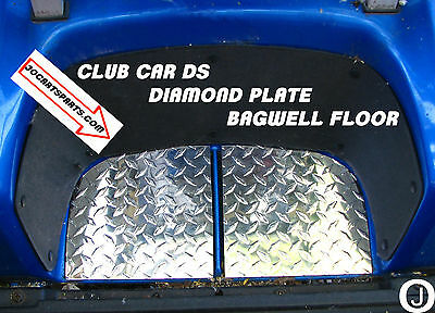 Club Car DS Golf Cart Highly Polished Aluminum Diamond Plate 2 pc. Bagwell floor