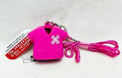 1 Bath Body Works PINK MEDICAL FIELD Pocketbac Sanitizer Case Holder Clip Id