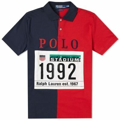 d76fc101df1 Polo Ralph Lauren Stadium Collection 1992 P Wing POLO Shirt RED & NAVY SzM  RUGBY