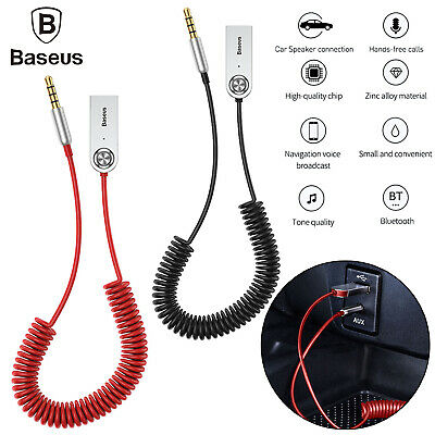 Baseus USB Bluetooth 5.0 Adapter Audio Cable Cord for Car AUX Receiver Speaker