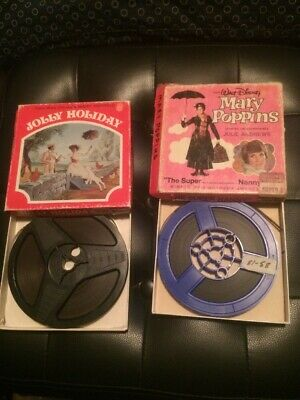 Mary Poppins Walt Disney Super 8mm 160ft Lot Of 2