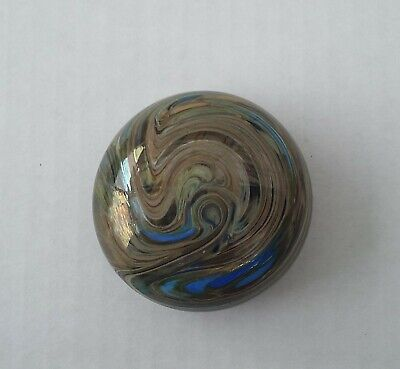 Glass Paperweight Signed Colin Heaney