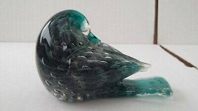 Glass Paperweight Bird