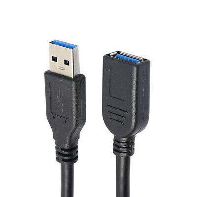 USB3.0 Male To Female USB Extension Cable High Speed Data Cord Black New Sale