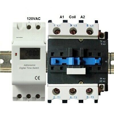 Astronomic Programmable Timer 30A 3 Pole Time SW 120V 110V, 40 Amp 40A 3 Phase
