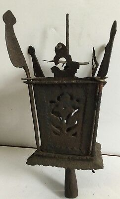 1800's Antique Large Parade Frog Ceremonial Lantern  Hand Wrought