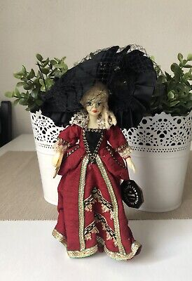 Vintage Collectors Costume Dolls By Rexard Plastic Doll 19cmTall Collectable