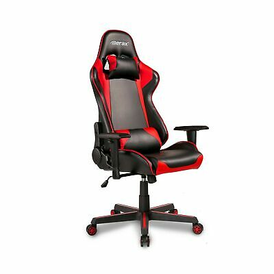 Merax PP036276JAA Racing Style Gaming Ergonomic Design High-Back PU Leather C...