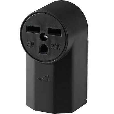 Cooper Wiring Devices 1232 30-Amp 240-Volt Power Receptacle, Black Power Outlet
