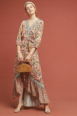 1fe9f2bc1c6 NWT ANTHROPOLOGIE FARM Rio Havana Floral Dress Pom Pom Maxi M  188 ...
