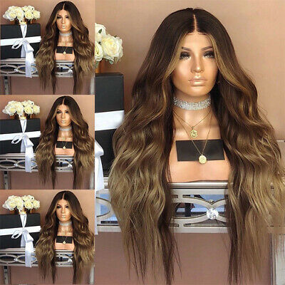 Fashion Synthetic Hair Lace Front Wig Long Wavy Full Wigs Curly Wig For Women