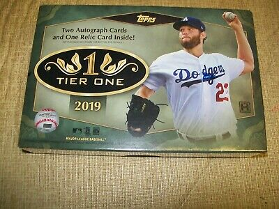 2019 Topps Tier One Hobby Box Factory Sealed