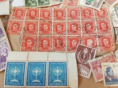 1000 Australian used stamps bulk high value ONLY 50c-$1, kiloware