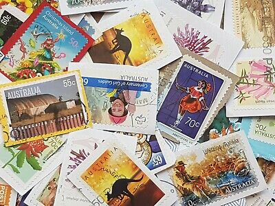 1500 Australian used stamps bulk kiloware only high value Sale discounted Free p