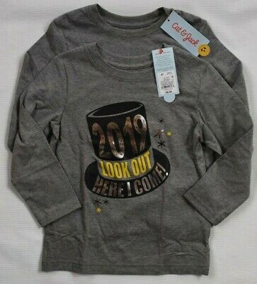 CAT & JACK Tee T Shirts LOOK OUT HERE I COME 2019 Toddler Boys 4 NEW  Lot of 2