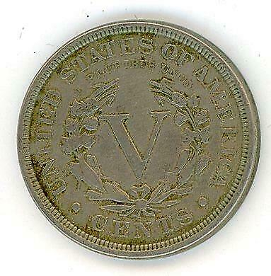 1890 United States Five Cent Coin