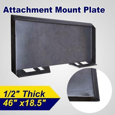 """1/2"""" Quick Tach Attachment Mount Plate Skid Steer Structural Steel Trailer Hitch"""