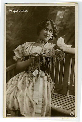 c 1908 French Theater Cabaret LOVELY De SCHLIERSEE Music Hall photo postcard