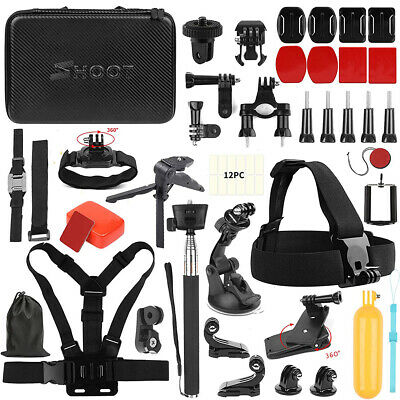 GoPro 7/6/5/4 Action Sports Video Cam Kit GOPRO HERO Camera Accessories 49in1