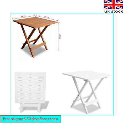 Wooden Folding Side End Coffee Table Garden Snack Patio Balcony Small Outdoor UK