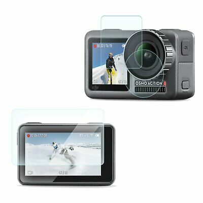 Anti-Scratch Tempered Glass Protective Lens Film for DJI OSMO ACTION Camera