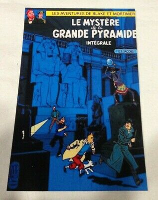 CARTE POSTALE TINTIN  HOMMAGE A HERGE PASTICHE blake et mortimer