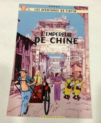 CARTE POSTALE TINTIN  HOMMAGE A HERGE PASTICHE en chine