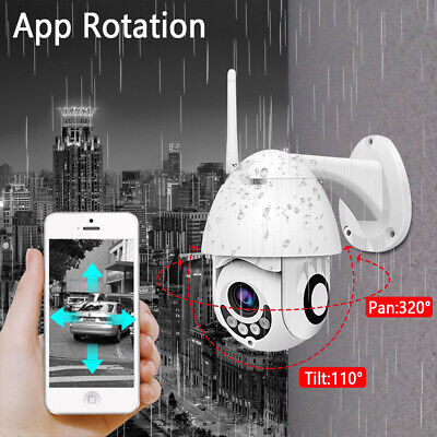 UK New 1080P WIFI IP Camera WHITE Wireless Outdoor CCTV HD Home Security IR Cam