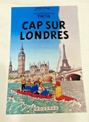 CARTE POSTALE TINTIN  HOMMAGE A HERGE PASTICHE londres