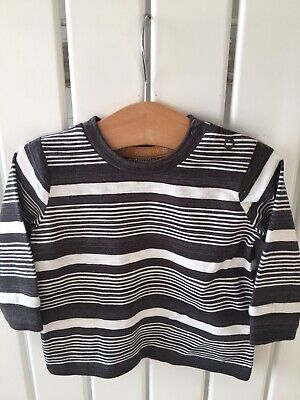 Baby Boy's Clothes 0-3mths - BNWOT Brown Striped Long Sleeve Top